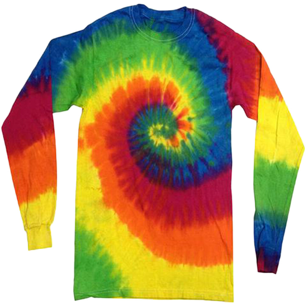 Tie dye shirt for men long sleeved shirts tie dyed tee for Tie dye mens t shirts