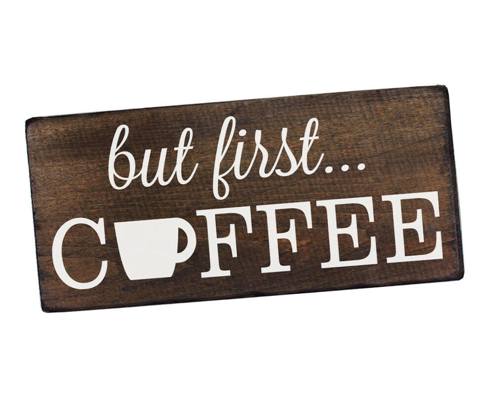 But First Coffee Sign Rustic Kitchen Decor Kitchen Wall Decor Kitchen Sign