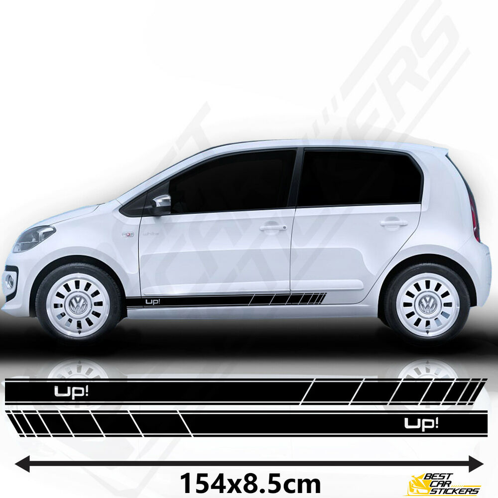 fits vw up racing stripes stickers decal tuning car. Black Bedroom Furniture Sets. Home Design Ideas