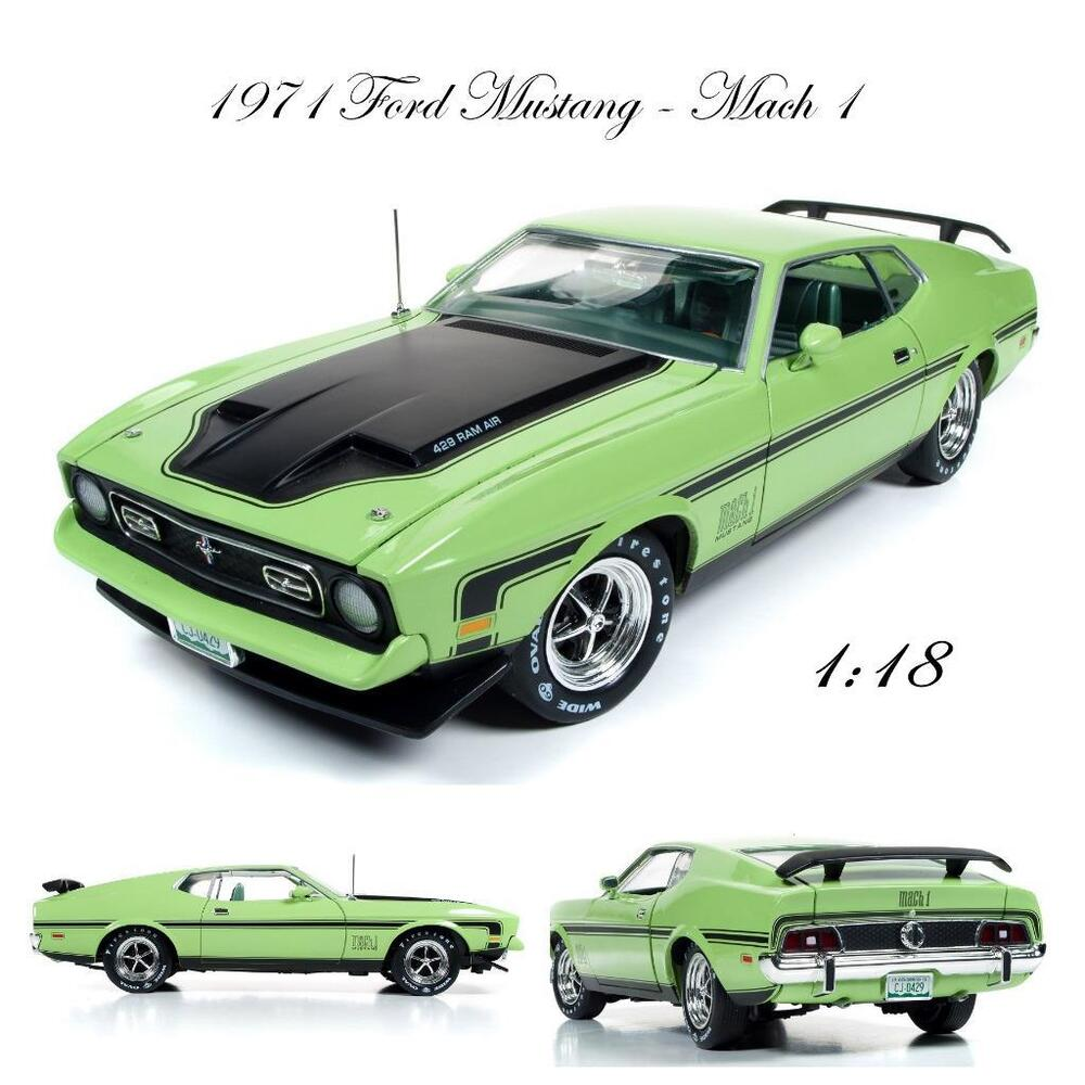 auto world amm1069 1971 ford mustang mach 1 diecast car 1. Black Bedroom Furniture Sets. Home Design Ideas