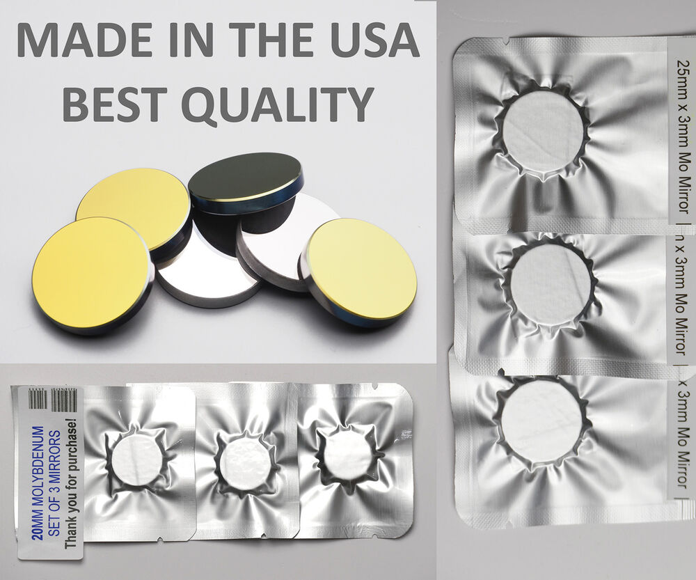 Usa Made Co2 Laser Mirrors Si Silicon Gold Plated And Molybdenum