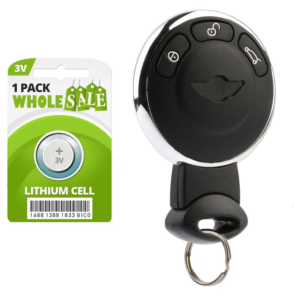 replacement for 2007 2008 2009 2010 mini cooper key fob remote ebay. Black Bedroom Furniture Sets. Home Design Ideas