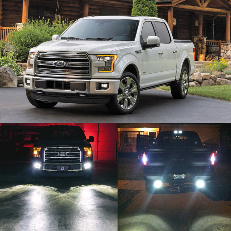 xenon white led package exterior lights bulbs kit for 2015 2016 ford f150 8pcs ebay. Black Bedroom Furniture Sets. Home Design Ideas