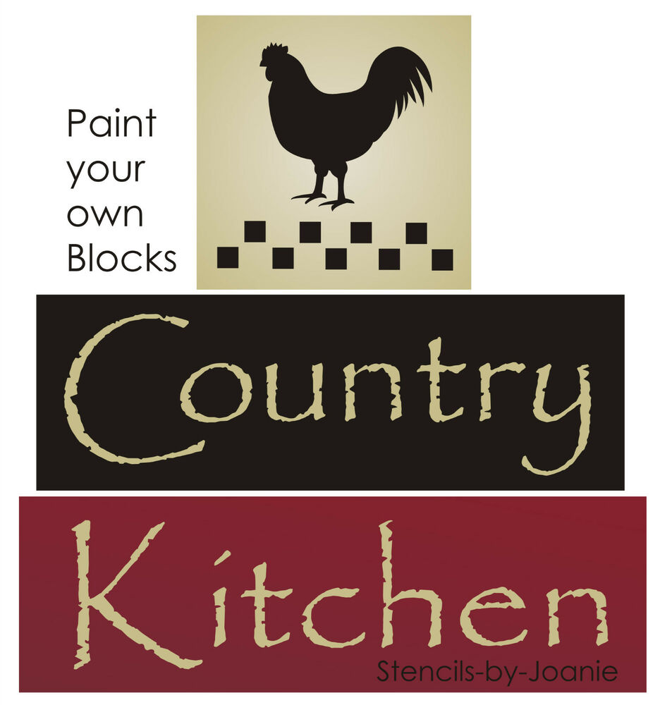 STENCIL Country Kitchen Farm Rooster Chicken Primitive