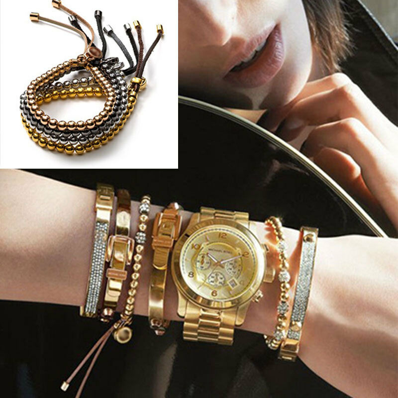 1pc New Fashion Style Letter Exquisite Luxury Charm Copper Beads Bracelets Ebay