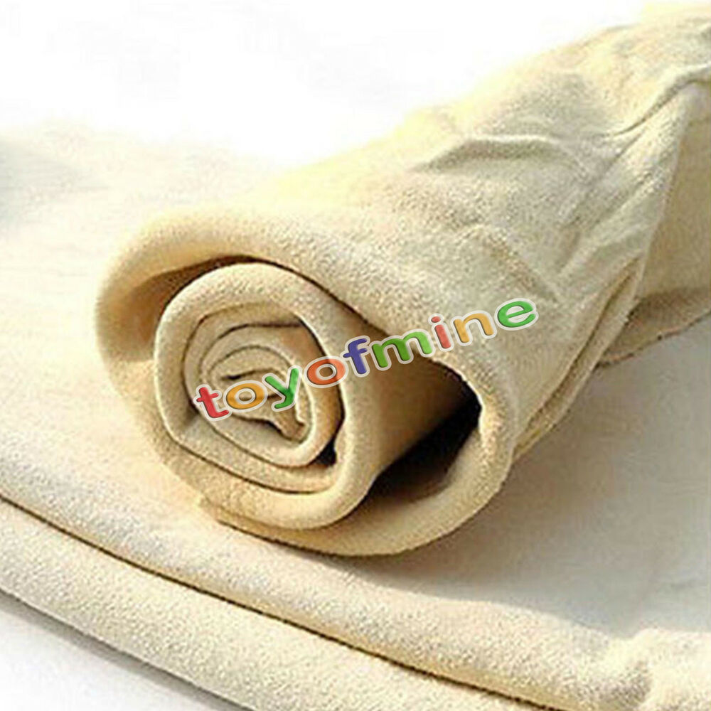Soft Cloth Car Wash >> Natural Shammy Chamois Leather Car Cleaning Towels Drying ...