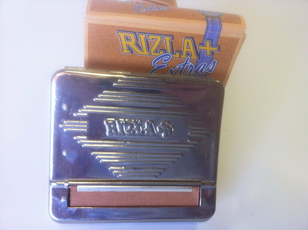 Rizla Automatic Cigarette Rolling Box Stainless Steel New