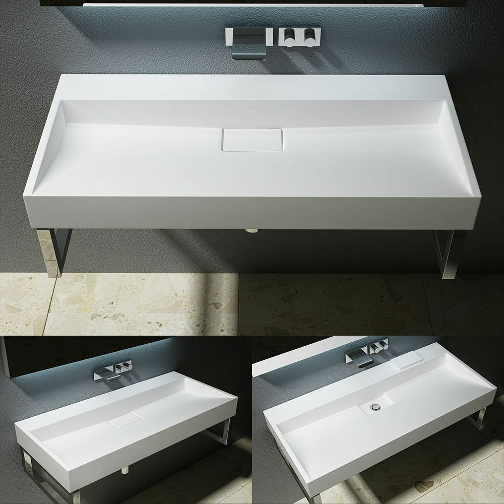 Counter Top Sinks: 1200mm Quality Large Double Solid Stone Wash Basin Sink
