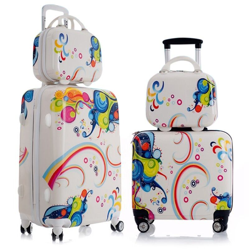 Trendy Travel Luggage Lovely Printing Kids Trolley Bag ...