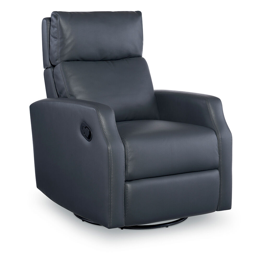 Sidney Swivel Glider Recliner In Slate Gray Color