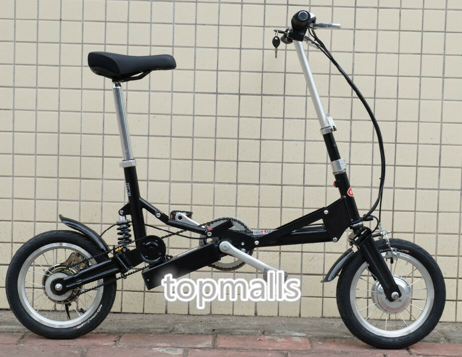 14 electric folding bicycle bike mini foldable bike. Black Bedroom Furniture Sets. Home Design Ideas