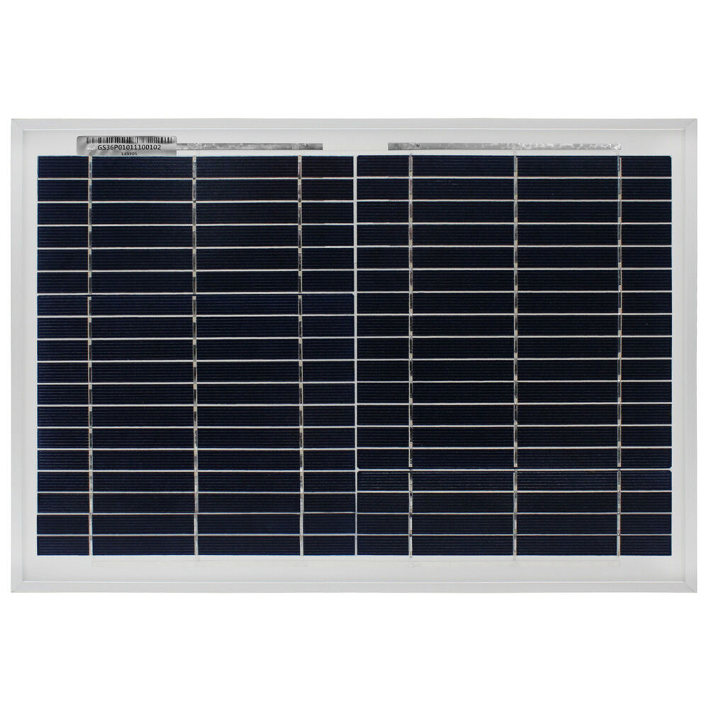 Mighty Max 10 Watt Polycrystalline Solar Panel Charger For