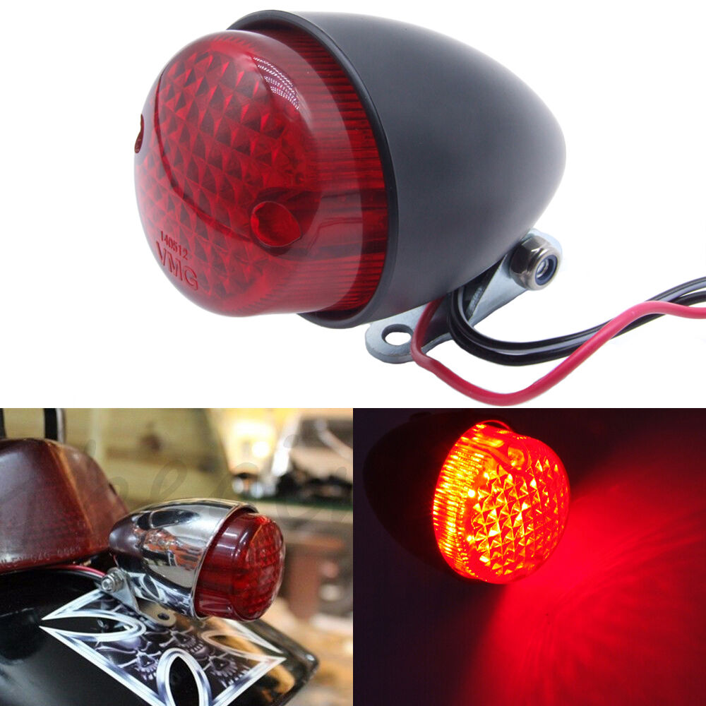 Motorcycle Red LED Stop Light Running Tail Light Universal
