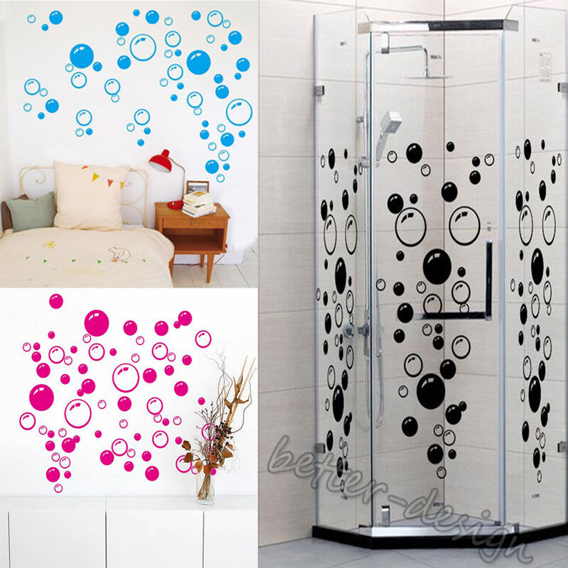 Bathroom Wall Art Bubbles : Bubbles wall bathroom tile shower art decal sticker