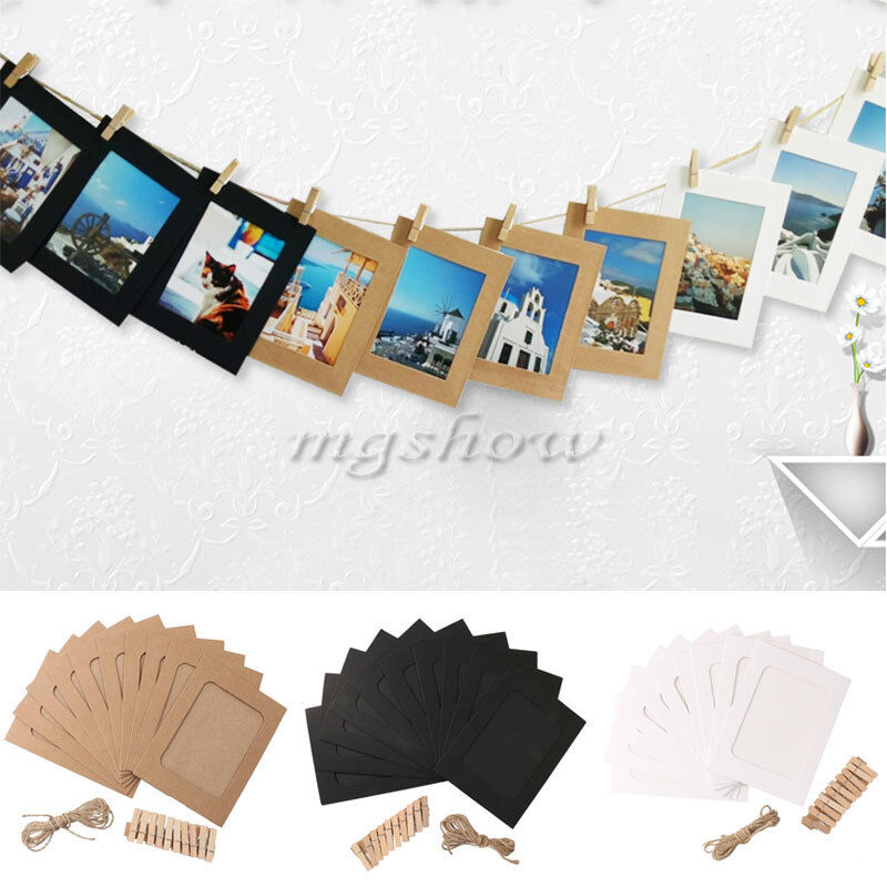 10pcs paper wall hanging 6inch picture photo frame album for Photo clip wall frame