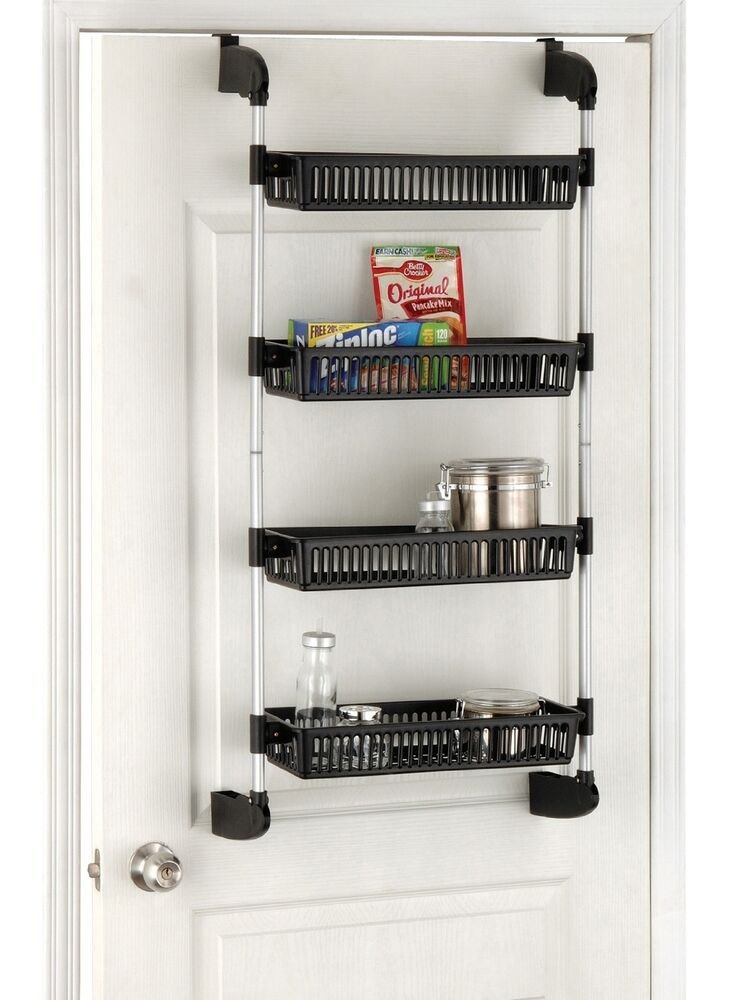 storage racks kitchen organize it all the door 4 tier basket storage unit 2568