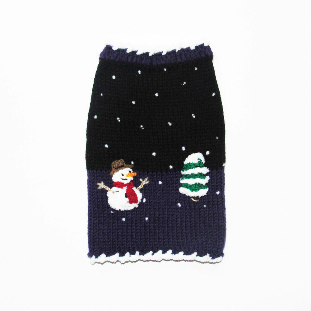 Christmas Dog Sweater Snowman Puppy Pet Winter Clothes