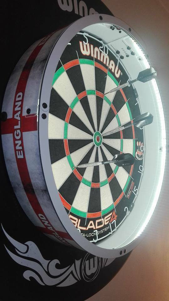 New Fit All Boards Maxlite360 Darts Led Light Lighting Surround Dartboard Mount Ebay