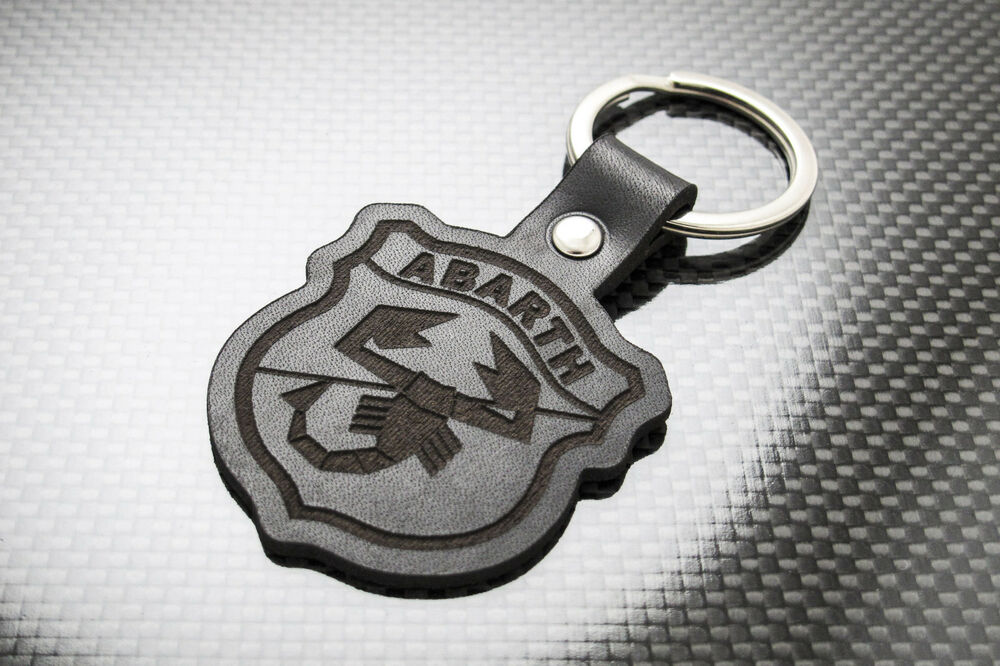 fiat abarth 500 595 leather keyring keychain schl sselring porte cl s turismo ebay. Black Bedroom Furniture Sets. Home Design Ideas