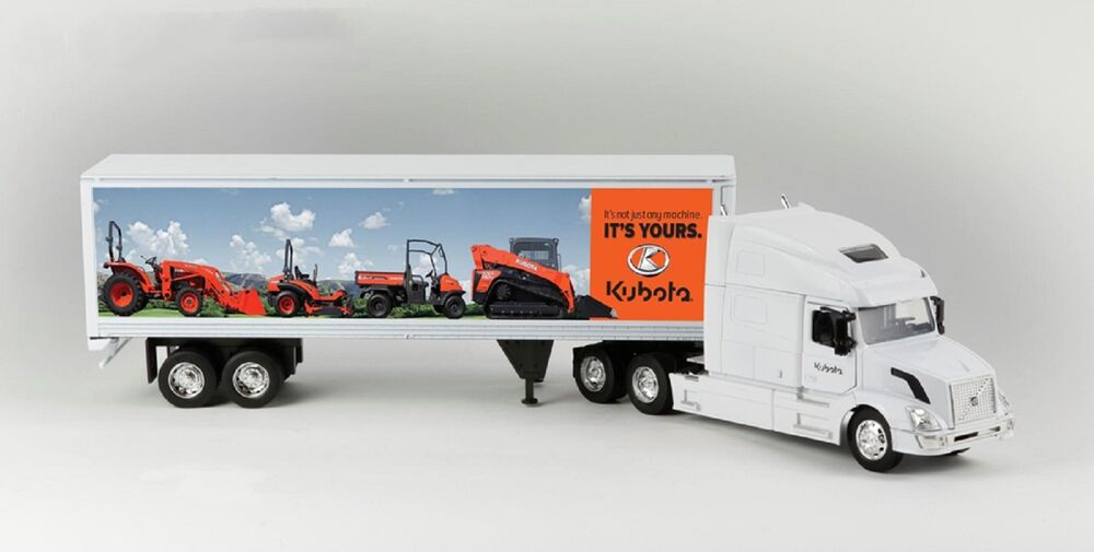 Toy Semi Tractor : Kubota toy die cast delivery semi truck w trailer