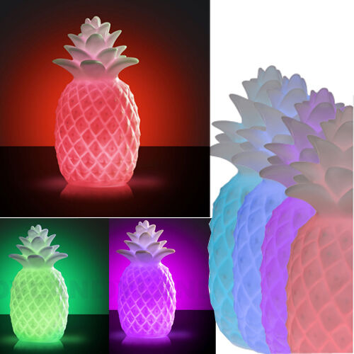 led colour changing pineapple mood light table lamp. Black Bedroom Furniture Sets. Home Design Ideas