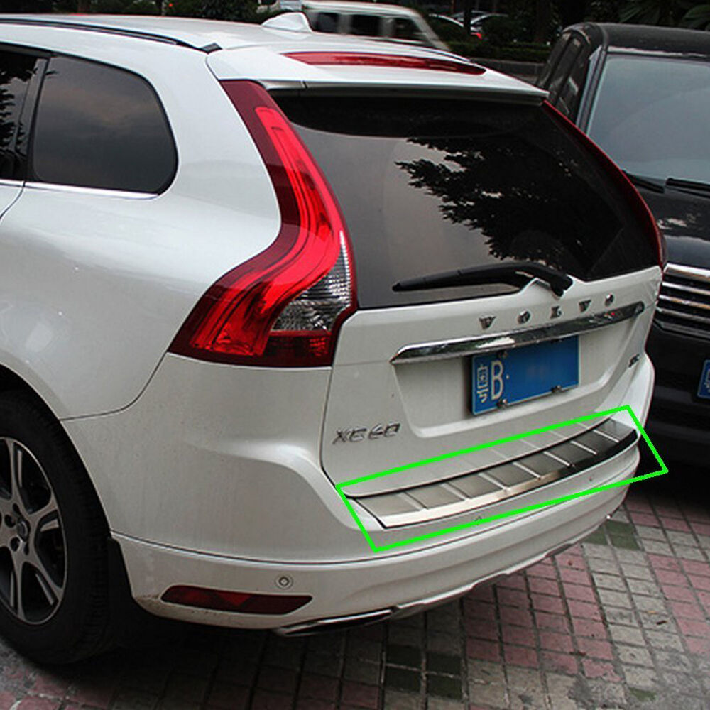 rear outer bumper skid protector guard sill plate for volvo xc60 2009 2016 s ebay. Black Bedroom Furniture Sets. Home Design Ideas