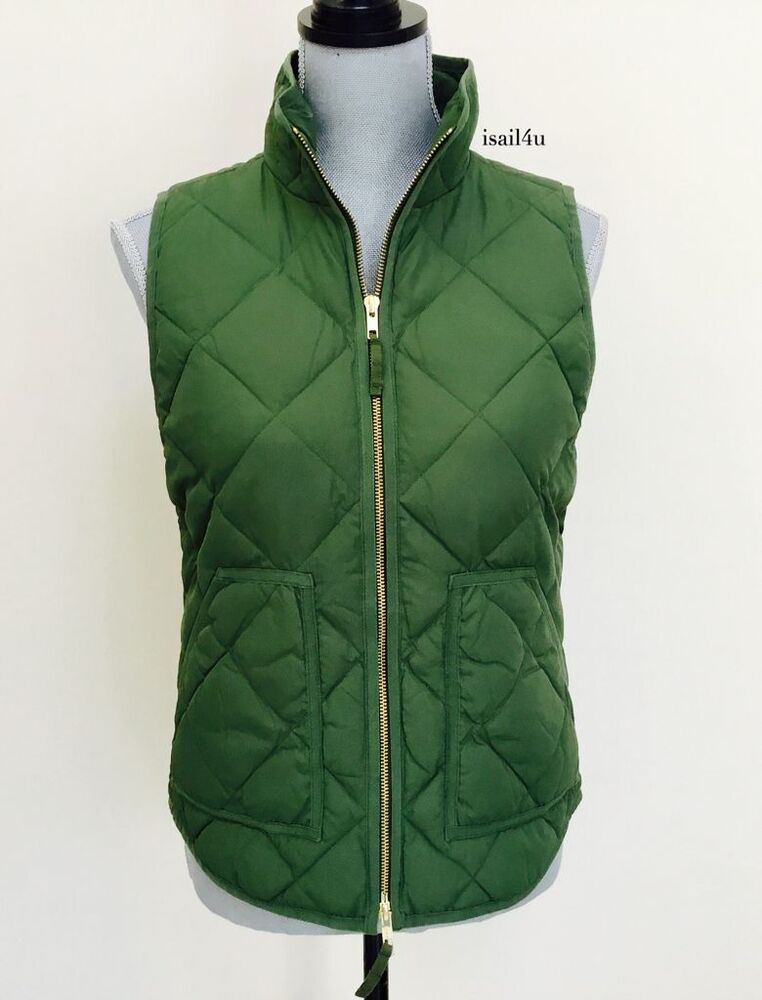 J Crew Factory Excursion Quilted Puffer Vest Color