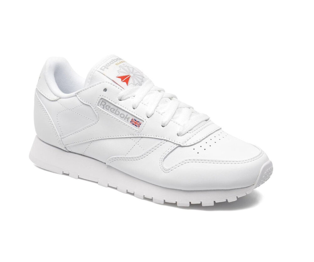 2b57499cc7c Details about REEBOK CLASSIC LEATHER JUNIOR - WHITE - 50151 - JUNIOR WOMENS  TRAINERS - NEW