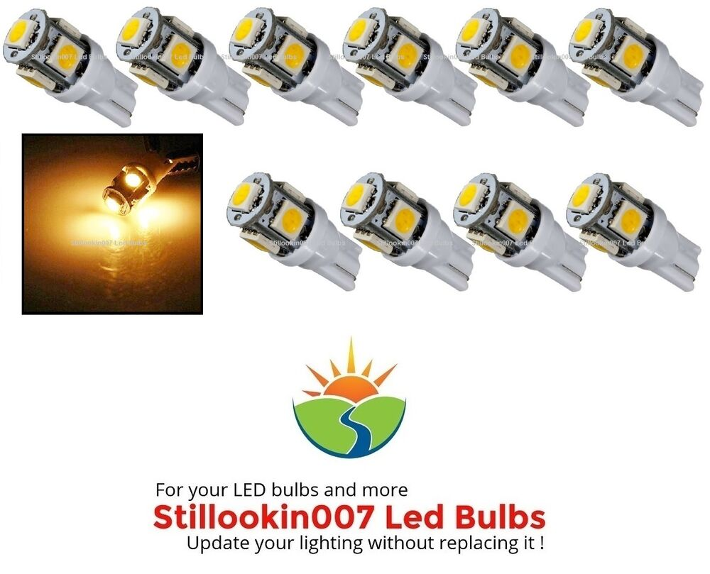 10 Landscape Light Bulbs Warm White 5led Replaces 12v