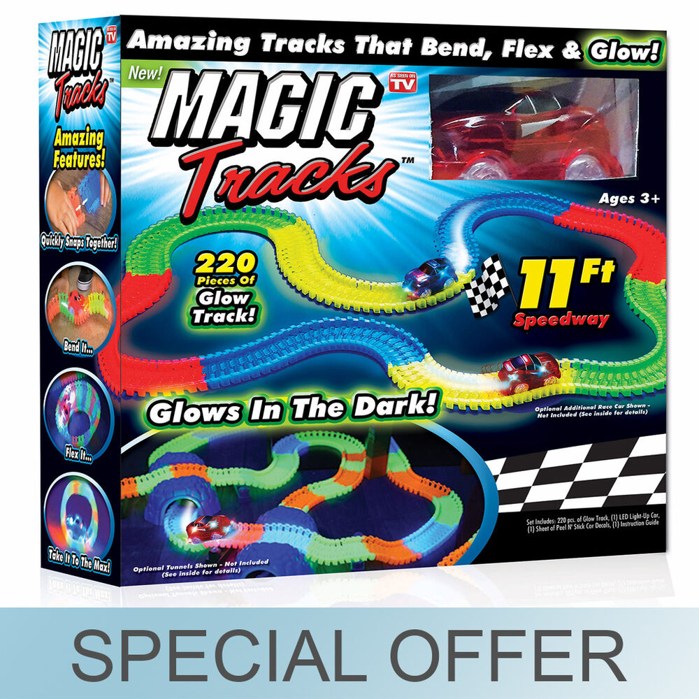 magic tracks glow in the dark race 11 39 of track toy as seen on tv new ebay. Black Bedroom Furniture Sets. Home Design Ideas