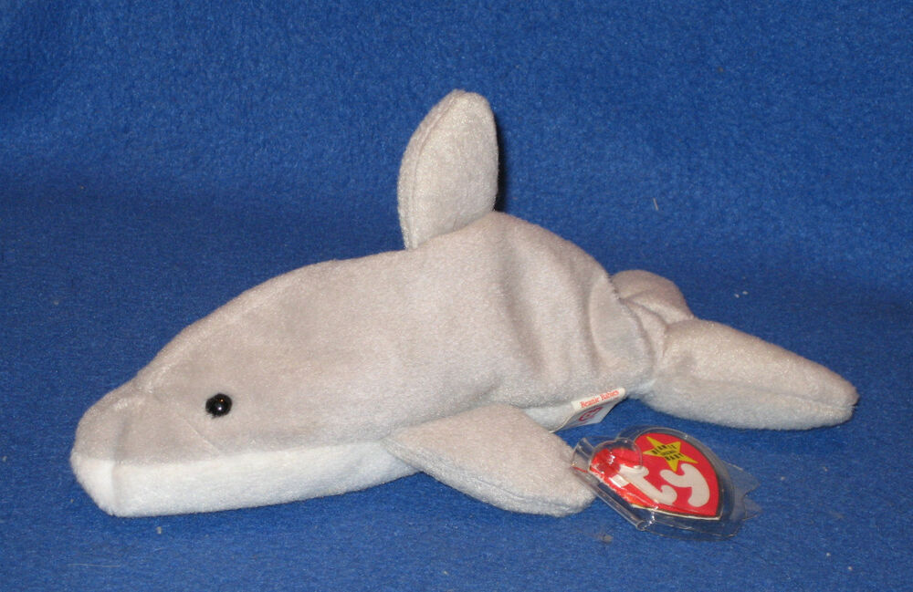 Details about TY FLASH the DOLPHIN BEANIE BABY - MINT with NEAR PERFECT TAG 6fa1afb55d0