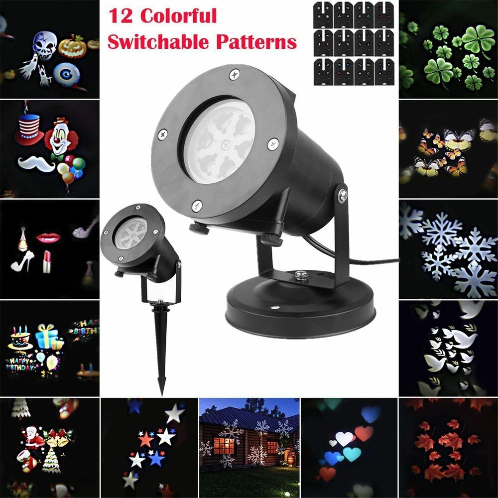 moving led laser star snowflake christmas light shower. Black Bedroom Furniture Sets. Home Design Ideas