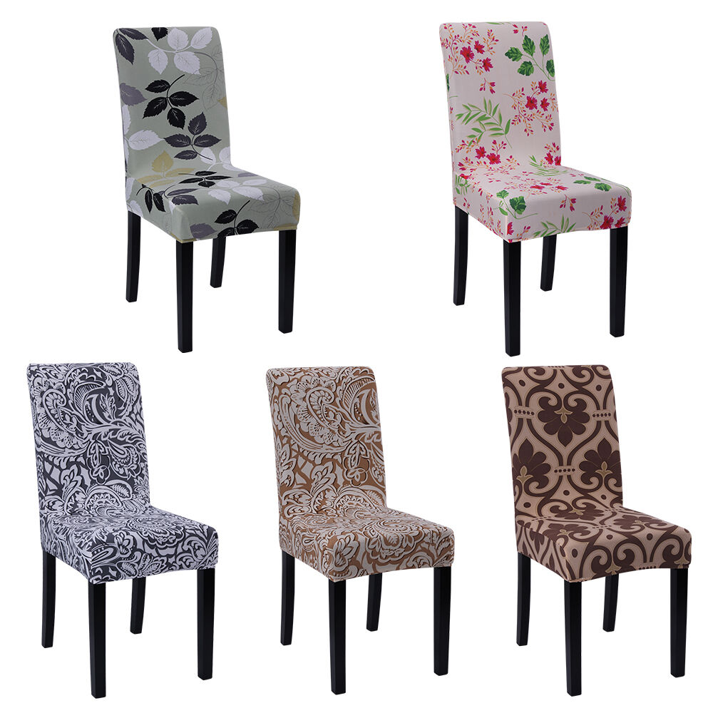 4 6 pcs removable stretch slipcovers short dining room for 4 dining room chair covers
