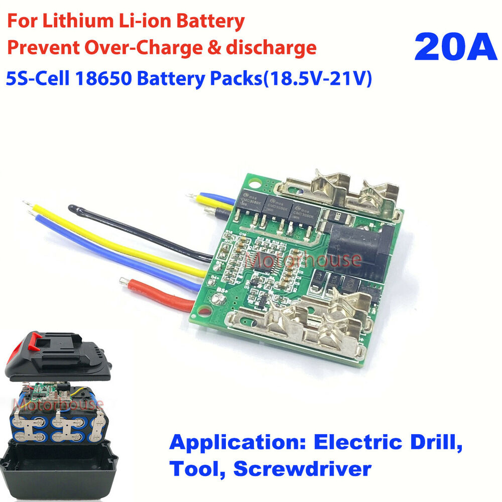 18V 5S 15A 5 Cell Liion Lithium Drill Battery BMS Protection PCB Circuit Board   eBay