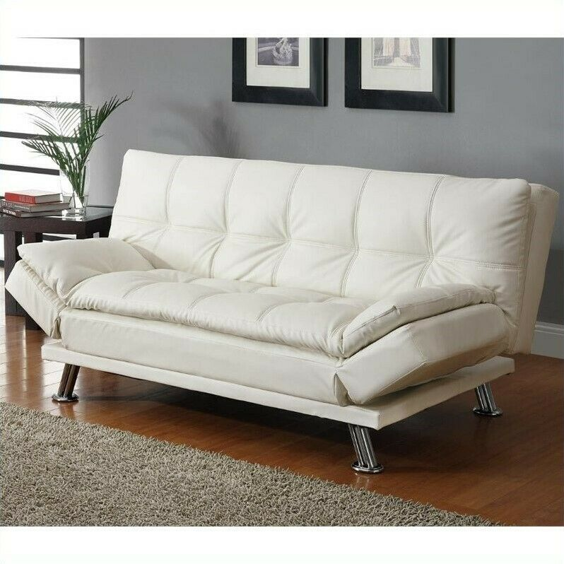 Coaster Contemporary Styled Sofa Metal Sleeper Sofas