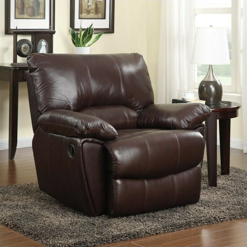 Clifford Leather Recliner chair Genuine leather Oversized ...