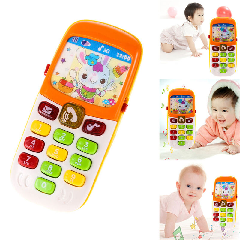 Musical Educational Toys : Baby kid musical mobile phone for toddler sound hear