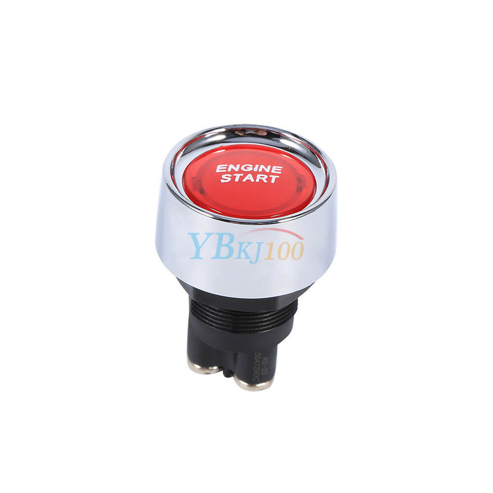 Car Suv Keyless Engine Ignition Power Switch Blue Led: 12V Red LED Car Keyless Engine Start Push Button Switch