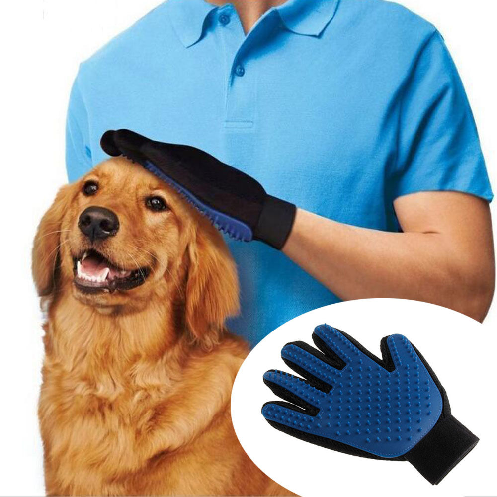 True Touch Deshedding Brush Glove Pet Dog Cat Gentle