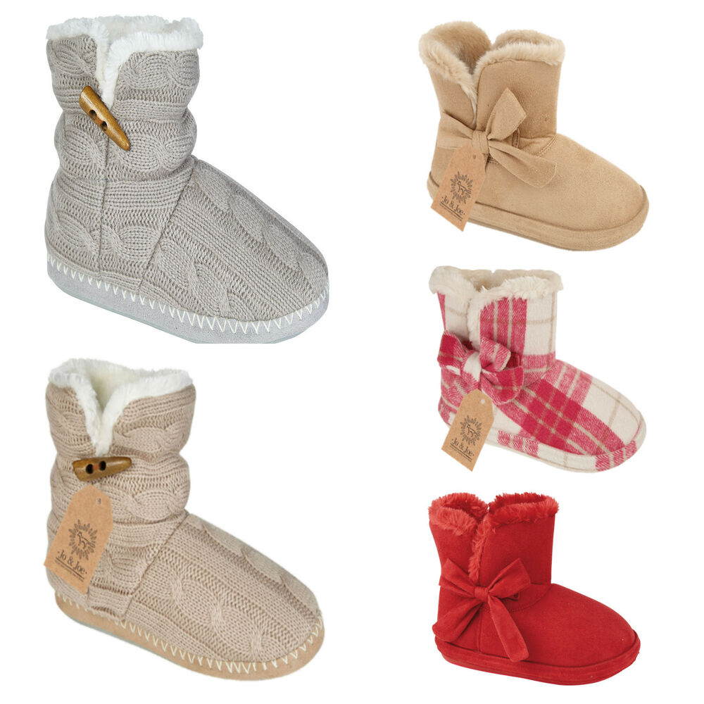 new luxury womens soft fleece warm slipper boots