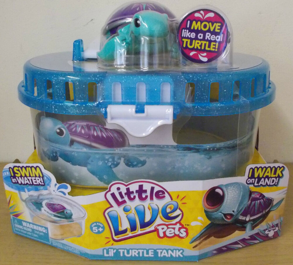 Little Live Pets ~ Turtle Tank ~ Includes Shine Turtle ~ Dives & Swims ...