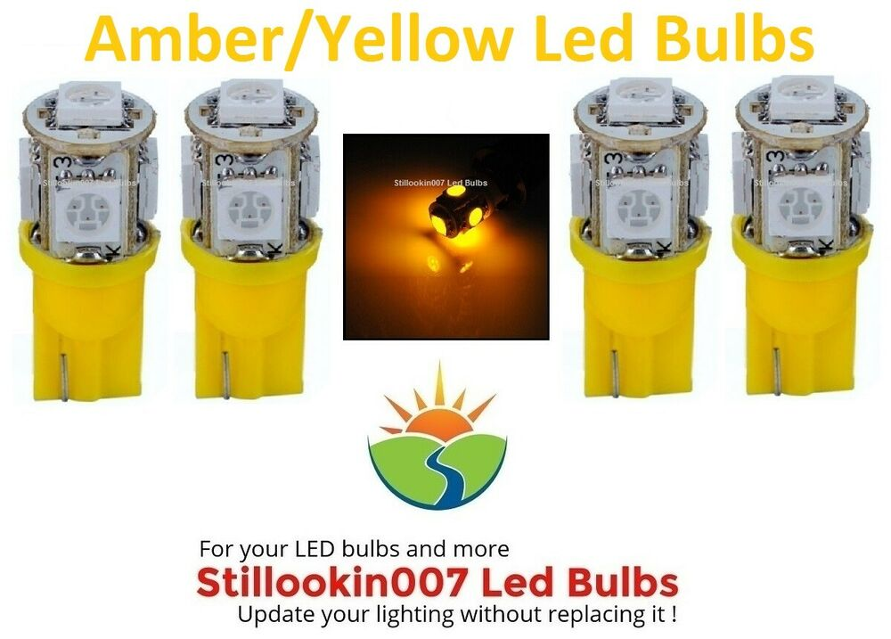 T5 Landscape Light Bulbs, Amber Yellow 5led's Per Bulb