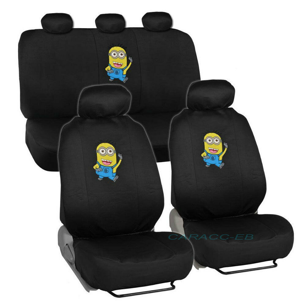 Brand New Despicable Me Minions Front And Back Car Seat