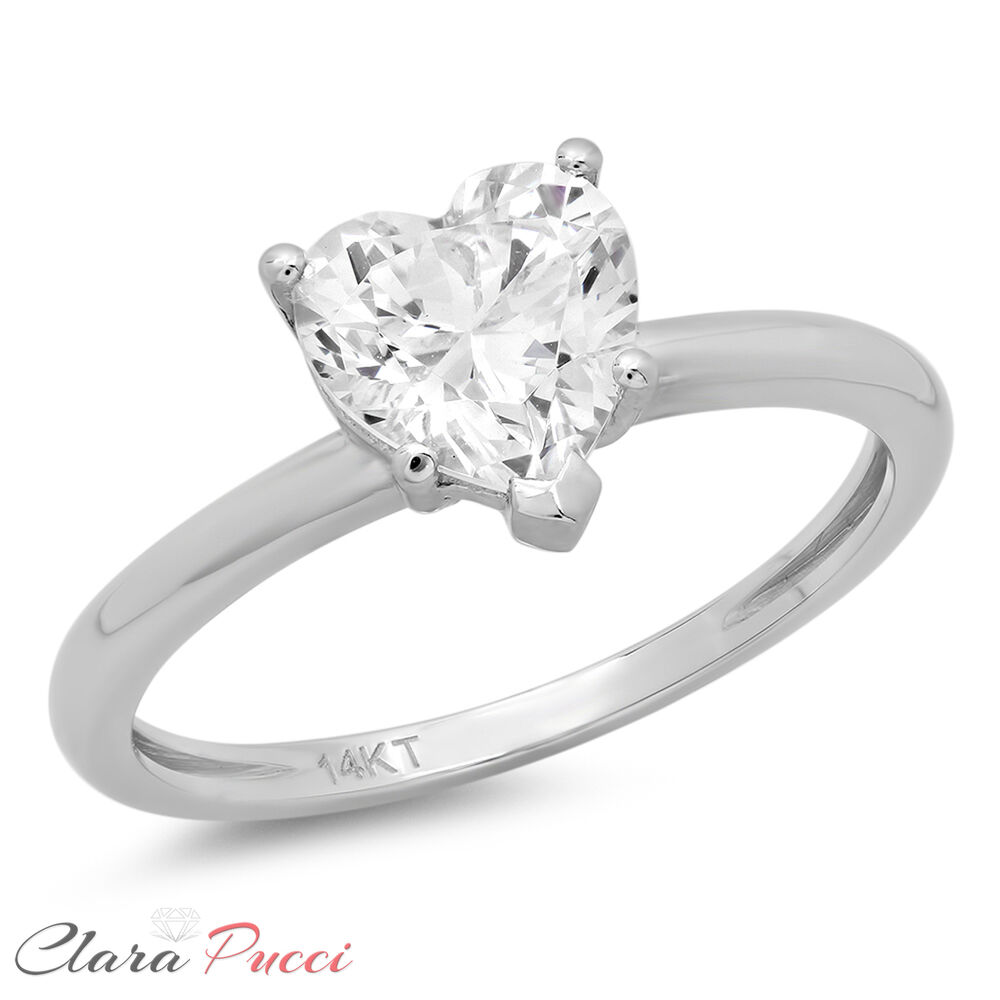 1 0ct brilliant heart shaped cut solitaire engagement ring. Black Bedroom Furniture Sets. Home Design Ideas