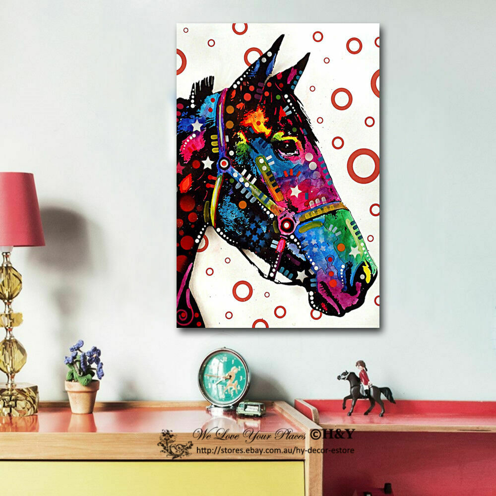 colour horse abstract canvas prints framed wall art home. Black Bedroom Furniture Sets. Home Design Ideas