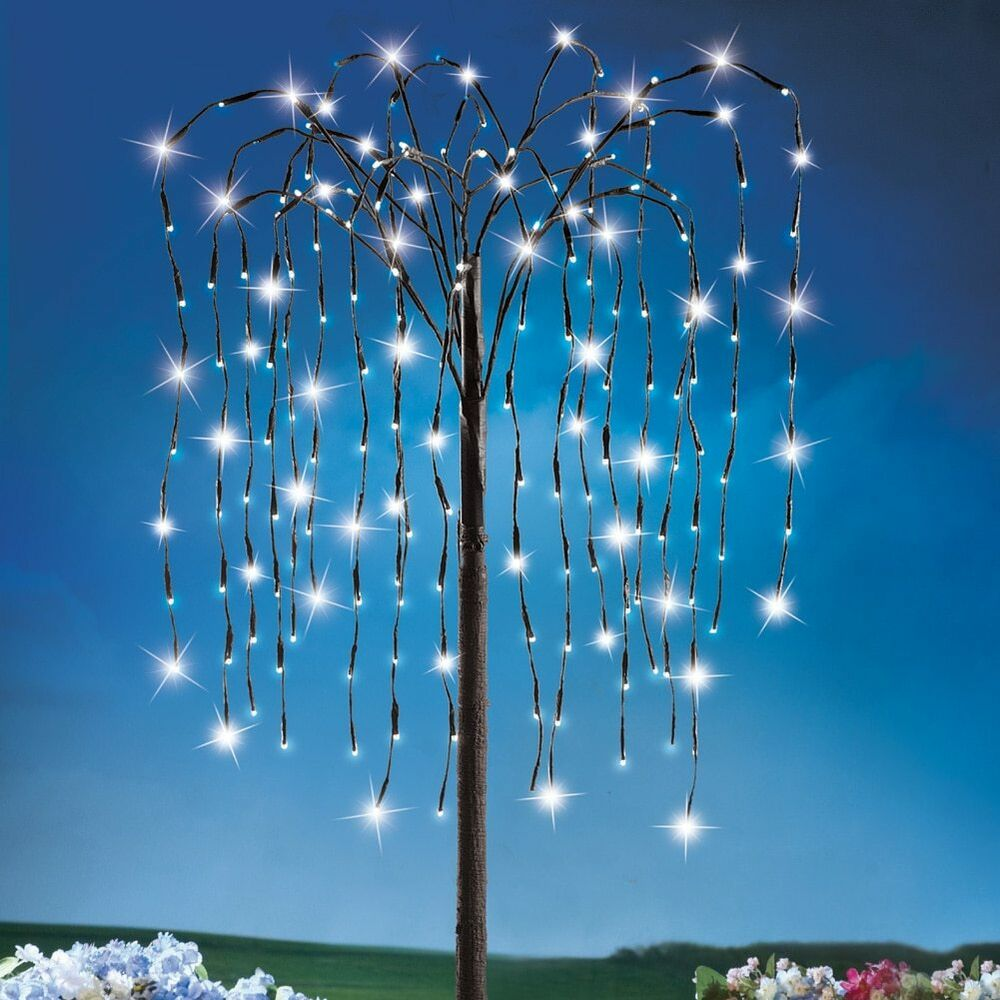 Solar outdoor willow branch tree by collections etc ebay