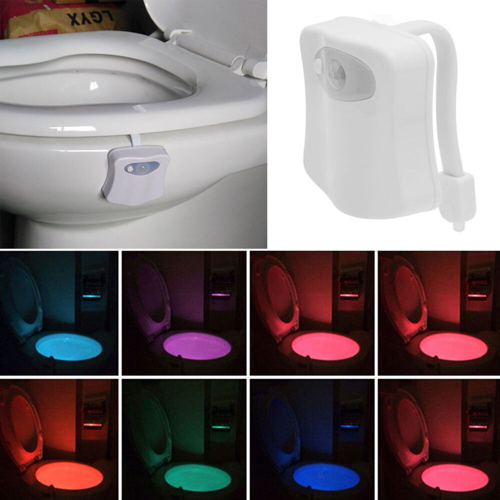 8 Color Changing Toilet Led Night Light Human Motion
