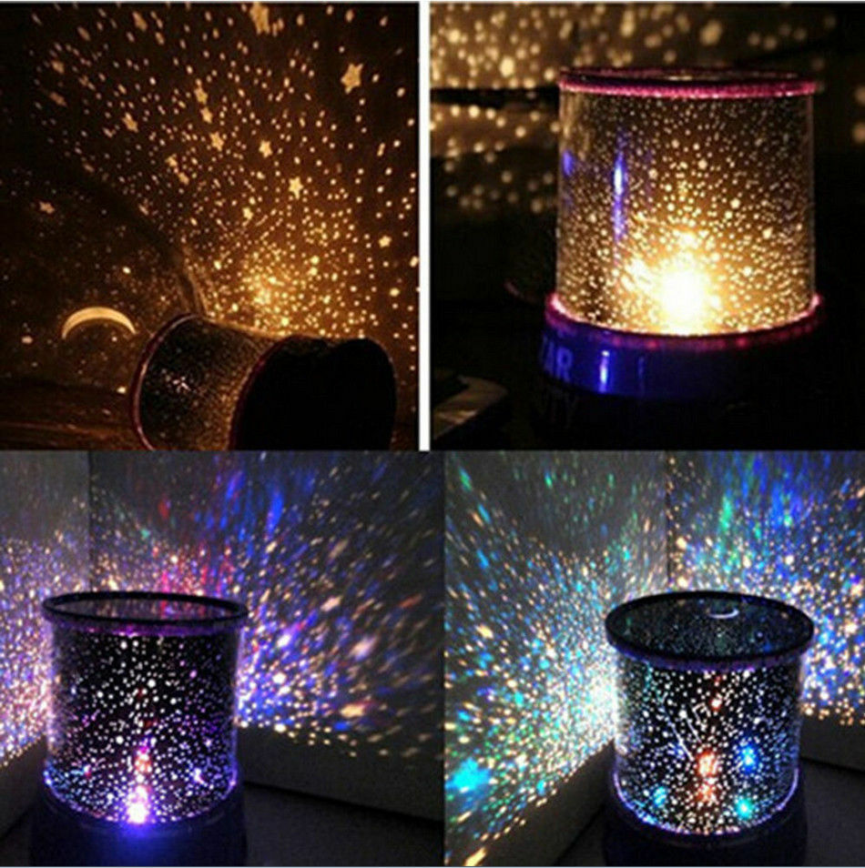 Romantic LED Starry Night Sky Projector Lamp Kids Gift Star Light Cosmos  Master | EBay