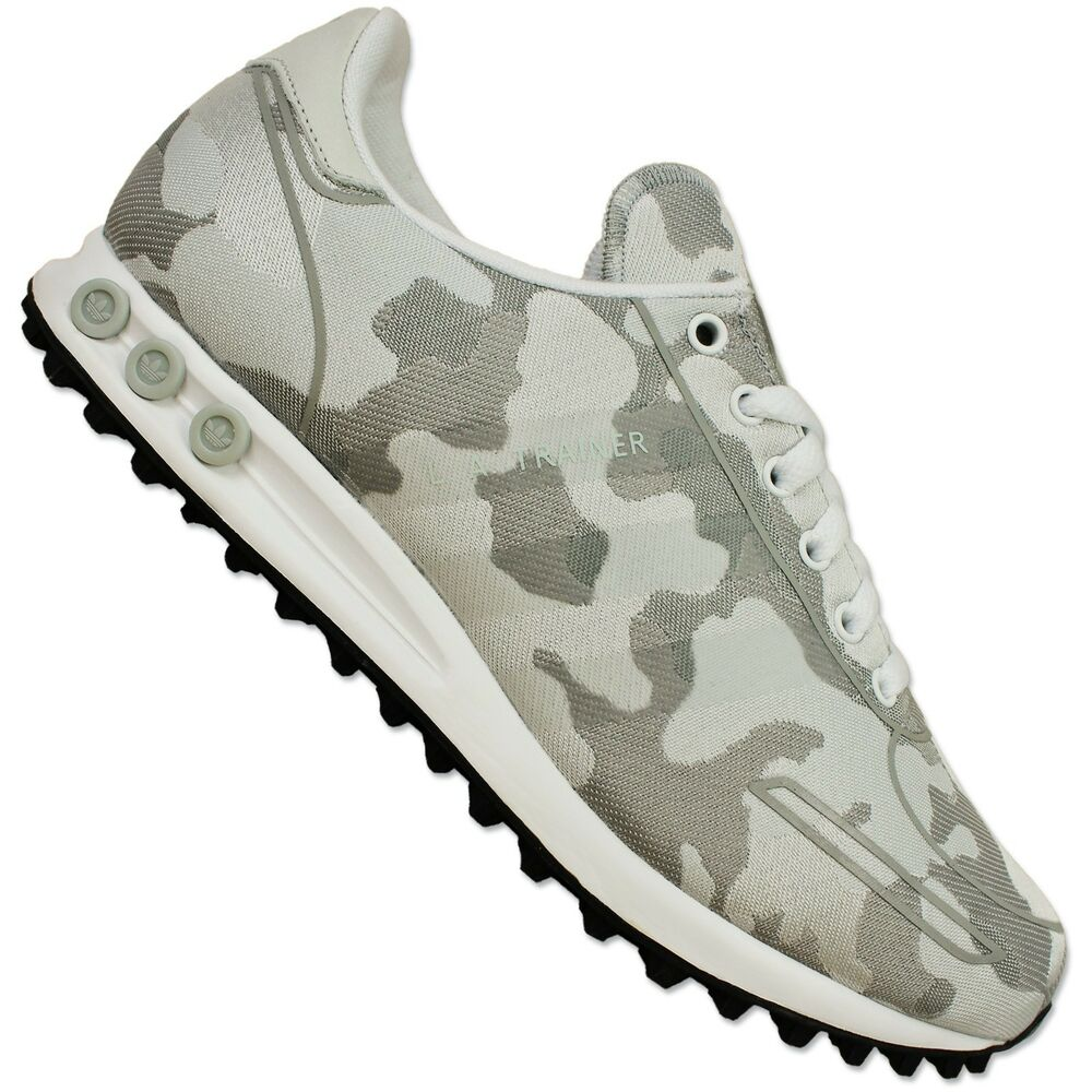 Adidas Originals LA Trainer Weave Trainers Shoes ZX Camouflage s79212 White  Grey   eBay