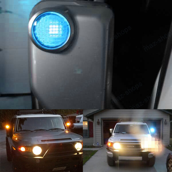 2pcs Ice Blue 5smd Side Mirror Lights Led Bulbs For Toyota